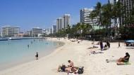 Entspannung am Strand in Waikiki.