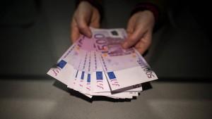 Die 500-Euro-Scheine werden schon weniger