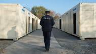 Wohncontainer für Flüchtlinge in Darmstadt