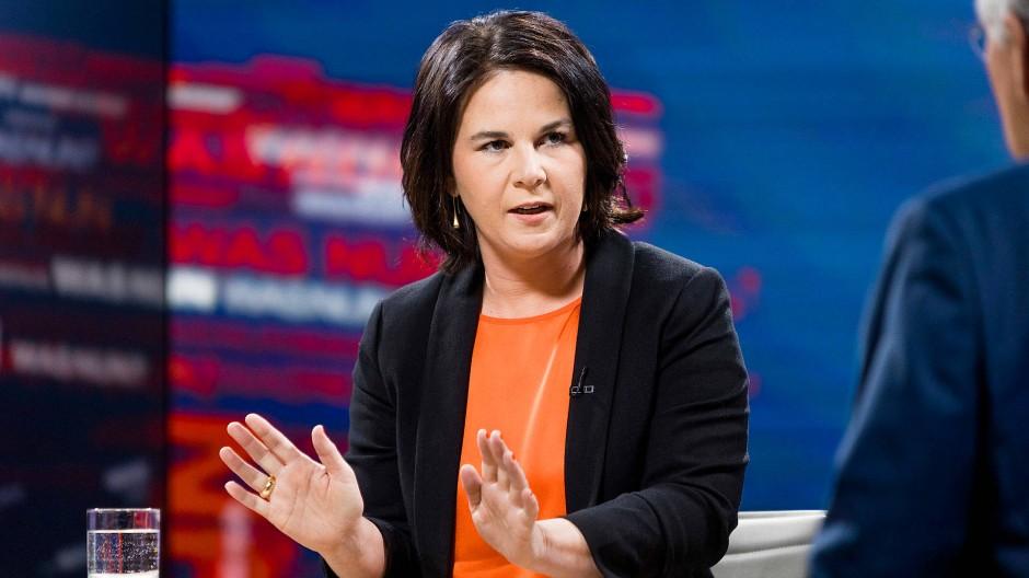 Annalena Baerbock am Montag im ZDF