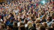 Studienanfänger in Hannover. Die Wahrscheinlichkeit, dass 17-Jährige darunter sind, wird immer größer.