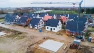 Neue Einfamilienhäuser in Laatzen (Region Hannover); Bild aus Januar 2020