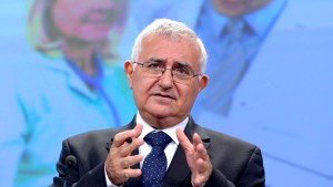 John Dalli, European Commissioner for Health and Consumer Policy, speaks at a news conference at the EC headquarters in Brussels
