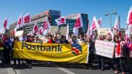 Der Postbank-Streik läuft