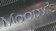 Das Logo der Ratingagentur Moody's an ihrem Office in New York.