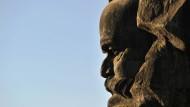 Vor fast fünfzig Jahren eingeweiht: Karl-Marx-Monument in Chemnitz.