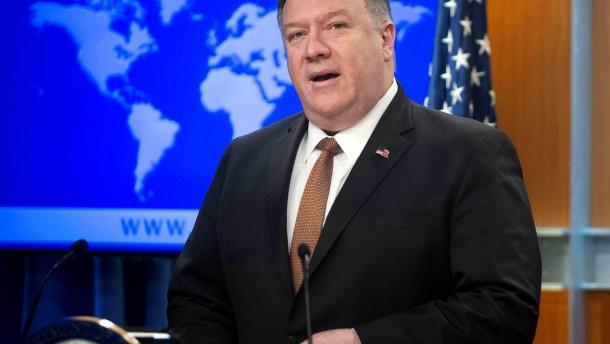 Amerikas Außenminister bezichtigt den Huawei-Gründer der Lüge