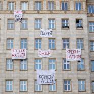 Protest gegen den Immobilienkonzern Deutsche Wohnen in Berlin