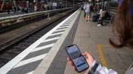 Die App im Einsatz am Frankfurter Hauptbahnhof