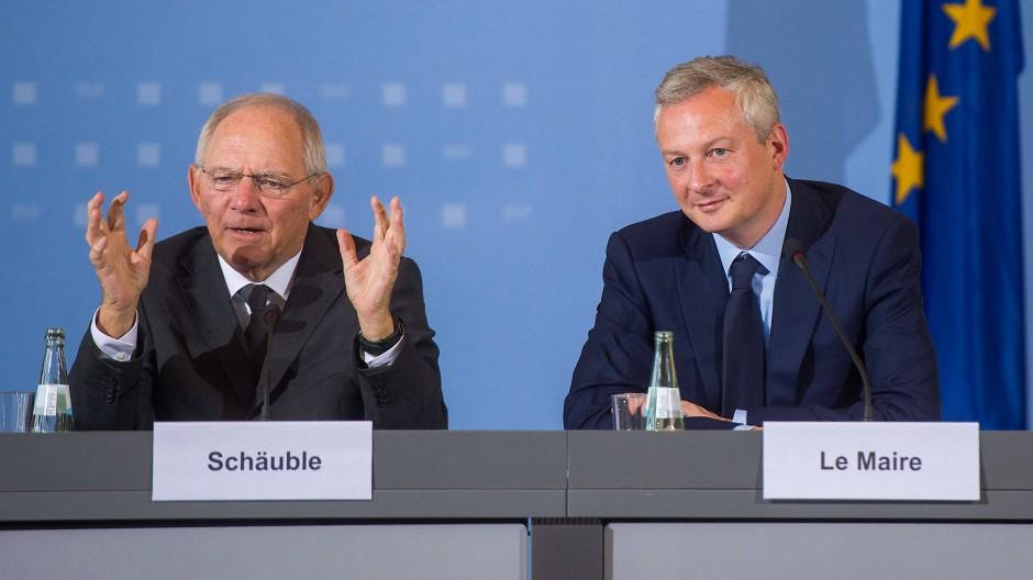 Wolfgang Schäuble und Bruno Le Maire am Montag in Berlin