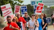 Mitglieder der Gewerkschaft UAW