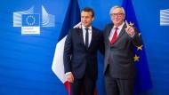 Bauen an einer weiteren Vertiefung der europäischen Einigung: Frankreichs Präsident Emmanuel Macron und Kommissionspräsident Jean-Claude Juncker