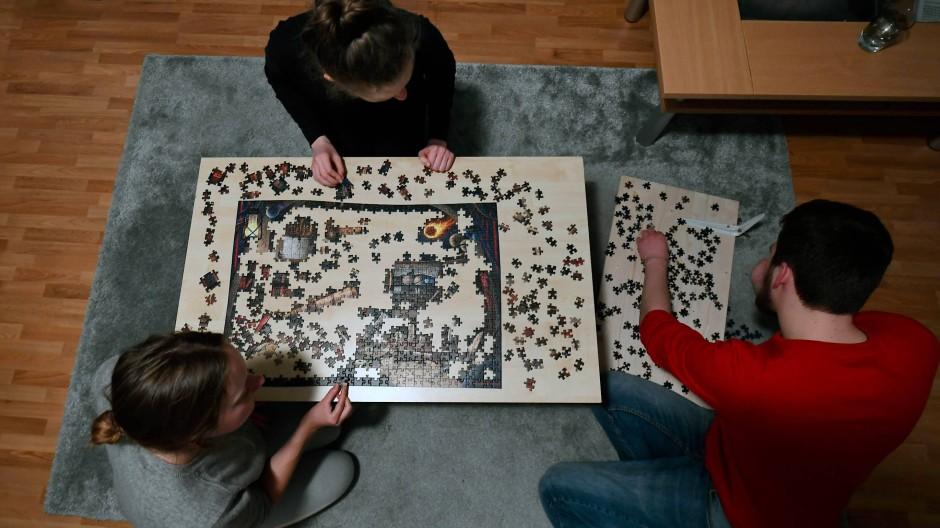 Entspannung oder Nervenprobe? Puzzles werden während der Pandemie beliebter.