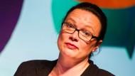 Arbeitsministerin Andrea Nahles auf der Digitalkonferenz Republica in Berlin.