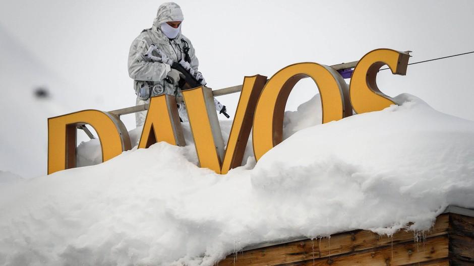 In Davos ist erstmal nichts los.