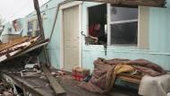 Hurrikan Harvey hat viele Häuser zerstört, wie hier in Rockport, Texas.
