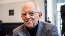 Schäuble: Finanzminister muss kein Fachmann sein