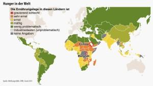 Auf der Welt hungern nur noch halb so viele