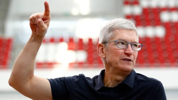 Apple-Chef Cook bekam vergangenes Jahr weniger Gehalt