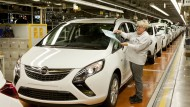Bekommt nach monatelanger Prüfung für den Zweiliter-Diesel des neuen Zafira die Zulassung: Opel, hier Zafira-Produktion in Rüsselsheim