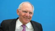 """""""Ich bin nicht pessimistisch"""" - Wolfgang Schäuble (CDU) trifft an diesem Donnerstag den neuen Kollegen aus Amerika."""