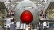 Der Airbus 380: Für dieses Flugzeug gab es viel Geld vom Staat.