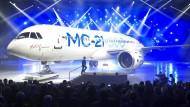 Russland präsentiert neues Passagierflugzeug