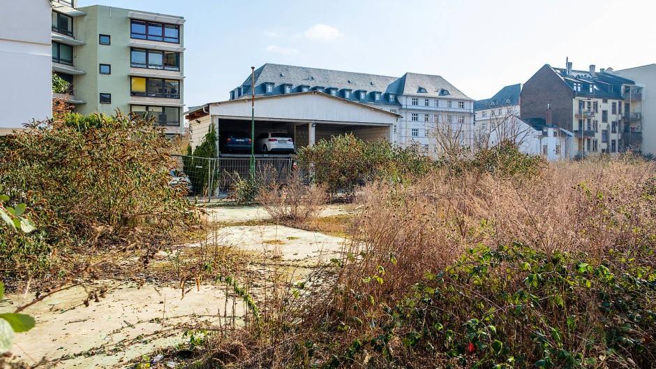Jahrelange Baulücke mitten in Frankfurt