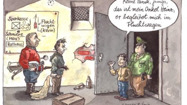 Karikatur / Führerschein mit 17