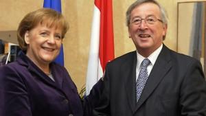 Merkel und Juncker treiben Idee voran