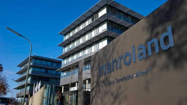 Manroland benötigt rasch einen Massekredit