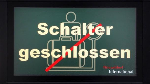 Abermals Streiks an Flughäfen Düsseldorf und Hamburg