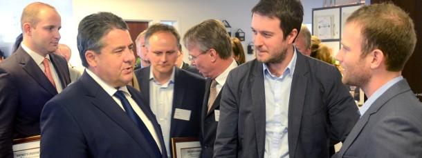 Wirtschaftsminister Gabriel eröffnet eine neue Niederlassung des German Accelerators in New York.