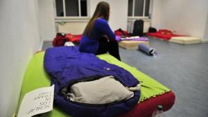Matratzenlager für die Erstsemester