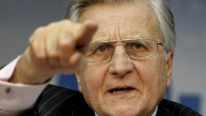 Trichet fordert rasche Sanierung der Haushalte
