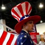 Ein als Uncle Sam verkleideter Mann auf der Conservative Political Action Conference (CPAC) im Februar.