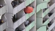 Hochhaus in Mainz: Bundesweit fehlen Hunderttausende Wohnungen. Jetzt will Berlin den Sozialwohnungsbau ankurbeln.