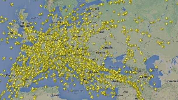 Flüge über Krisengebiete in der Diskussion