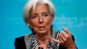 International Monetary Fund Managing Director Christine Lagarde holds a news conference in Washington