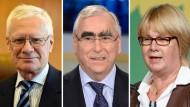 Beraten künftig die Regierung: Michael Gerhardt (l), Theo Waigel und Krista Sager,