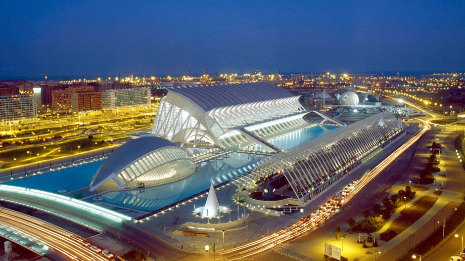 Moderne Architektur in Valencia