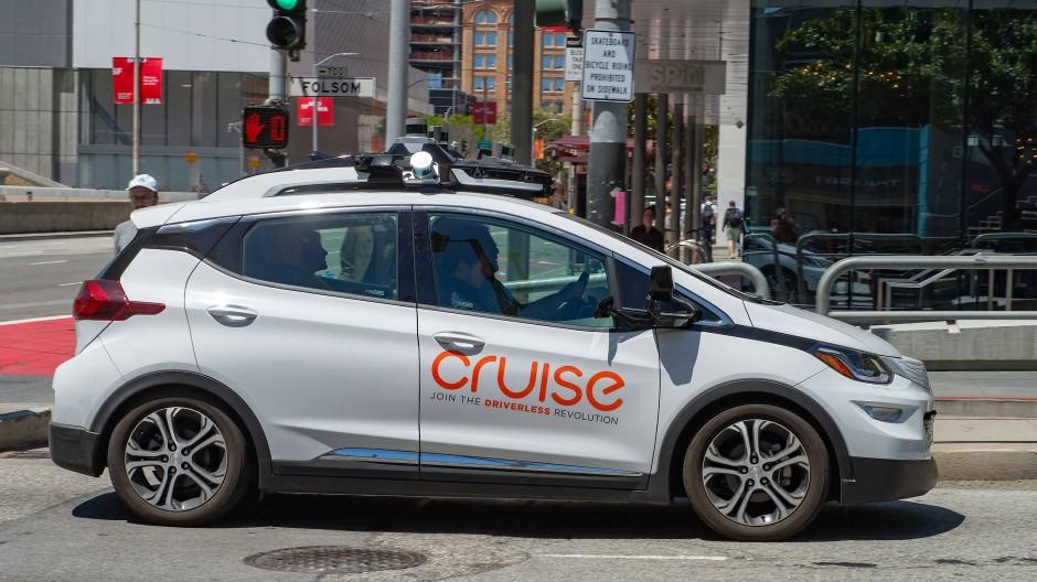 Ein selbstfahrendes Auto des General-Motors-Tochterunternehmens Cruise