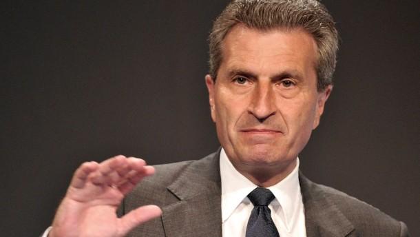 Oettinger: Niederlande verärgert über deutsche Ökostrom-Hilfen