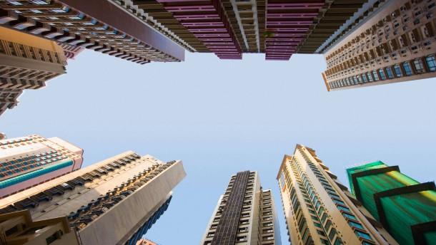 Gefragte Luftschlösser in Hongkong