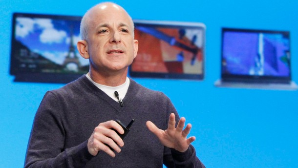 File of  Steven Sinofsky speaking at the launch of Windows 8 operating system in New York