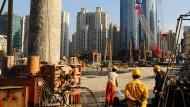 Weniger Baustellen in China – weniger Aufträge für die deutsche Industrie