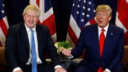 """Trump und Johnson wollen """"robustes"""" Handelsabkommen"""