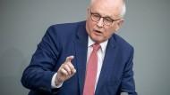 Der Chef der Fraktion von CDU und CSU im Bundestag, Volker Kauder (CDU).