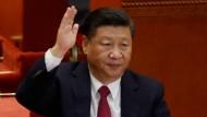 Stimmte auch für sich: Xi Jinping