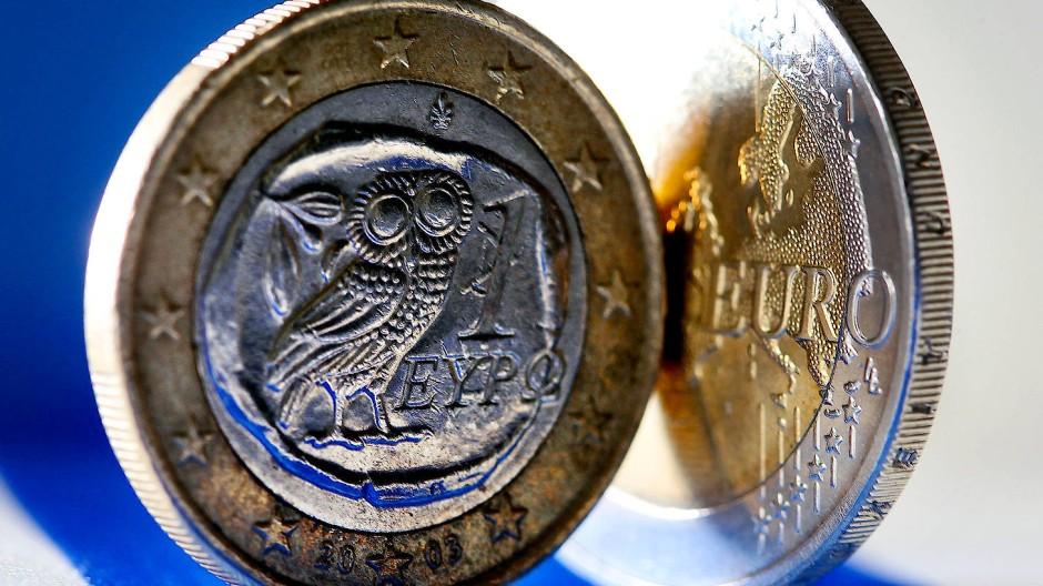 Die Eule bleibt: Eine Euro-Münze aus Griechenland.